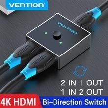 Vention HDMI ספליטר 4K 60Hz HDMI מתג דו כיוון 1x 2/2x1 מתאם HDMI switcher 2 ב 1 החוצה עבור HDTV תיבת PS4/3 HDMI מתג
