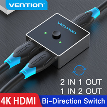 Vention HDMI Splitter HDMI Switch 4K Bi Direction 1x2/2x1 Adapter HDMI 2.0 Switch 2 in 1 out for Xiaomi TV Box PS4 HDMI Switcher