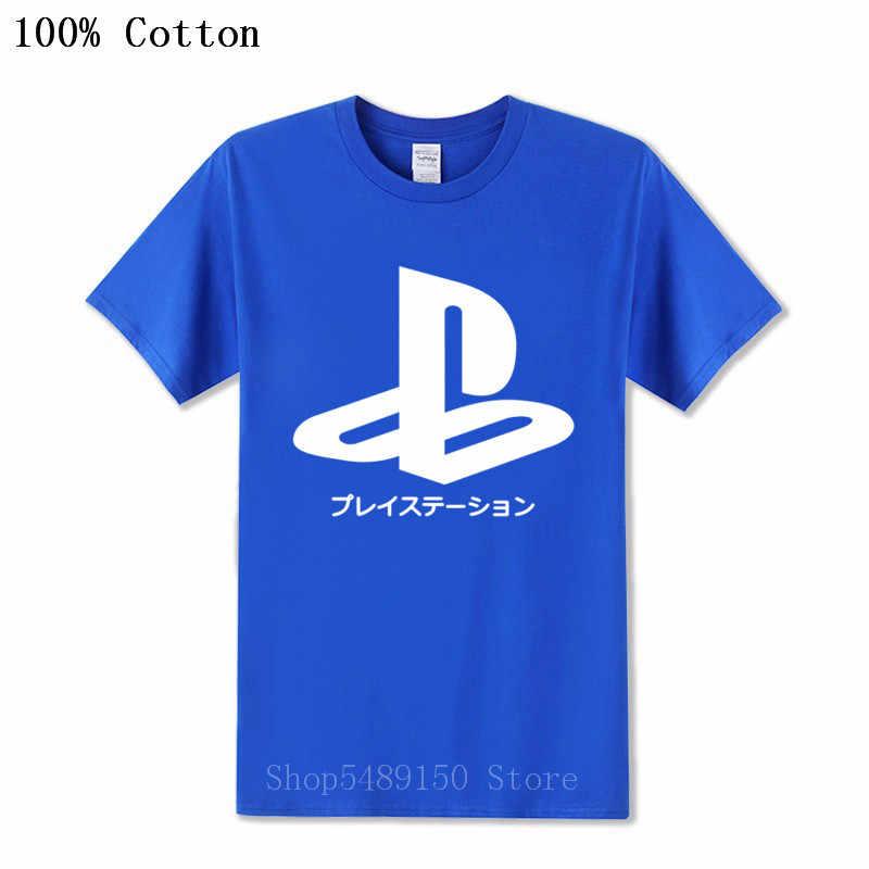 חדש בציר PS לוגו חולצת טי Xbox משחק פלייסטיישן חולצה גברים Streetwear טי חולצה PS1 PS2 PS3 PS4 גיימר קצר שרוול כותנה חולצות