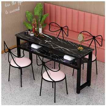 Manicure table simple modern single double triple nail table and chair set simple table double-layer economy