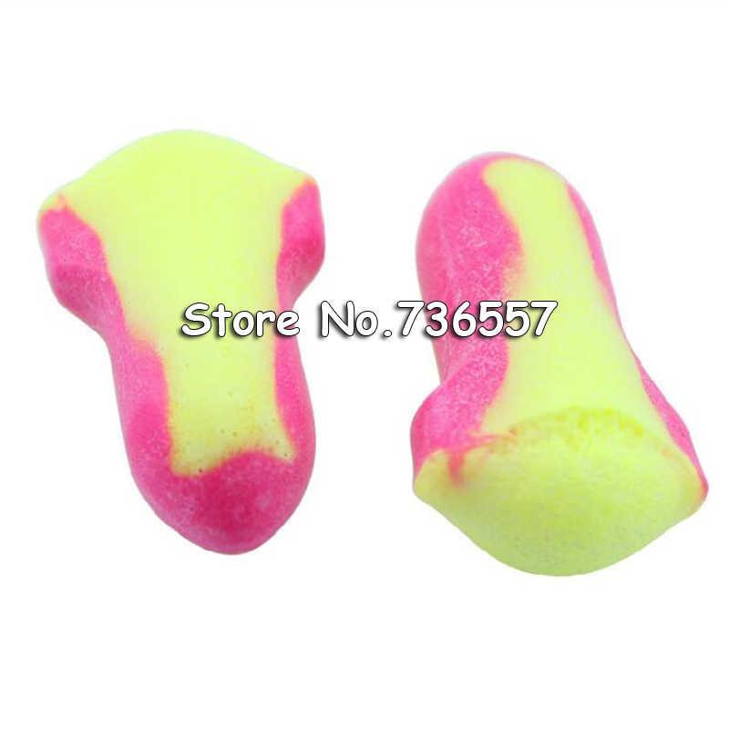 10 쌍 일회용 유선 폼 귀마개 코 고는 수면 청력 보호 귀 보호기 귀마개 귀마개