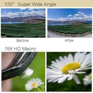 Image 4 - TOKOHANSUN Professionale 15x Macro Foto HD 0.6x Super Ampio Angolo di Obiettivo Del Telefono Mobile Della Macchina Fotografica Per Samsung S8 S9 iPhone 6S 7 8 Più