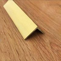 90 Degrees Right Angle Flat Brass Strip L Shape Floor Edge Holder Corner Table Guard Strip Decoration