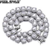 Цепочка с кубическим цирконием для мужчин и женщин ожерелье
