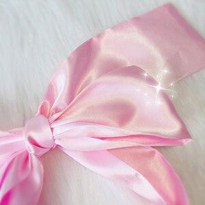 Image 5 - Soft Sleep Eyeshade Satin Ribbon Bondage On Eyes Sex Breathable Cover Eye Patch Belt Blindfold Sexy Exotic Lingerie Accessories