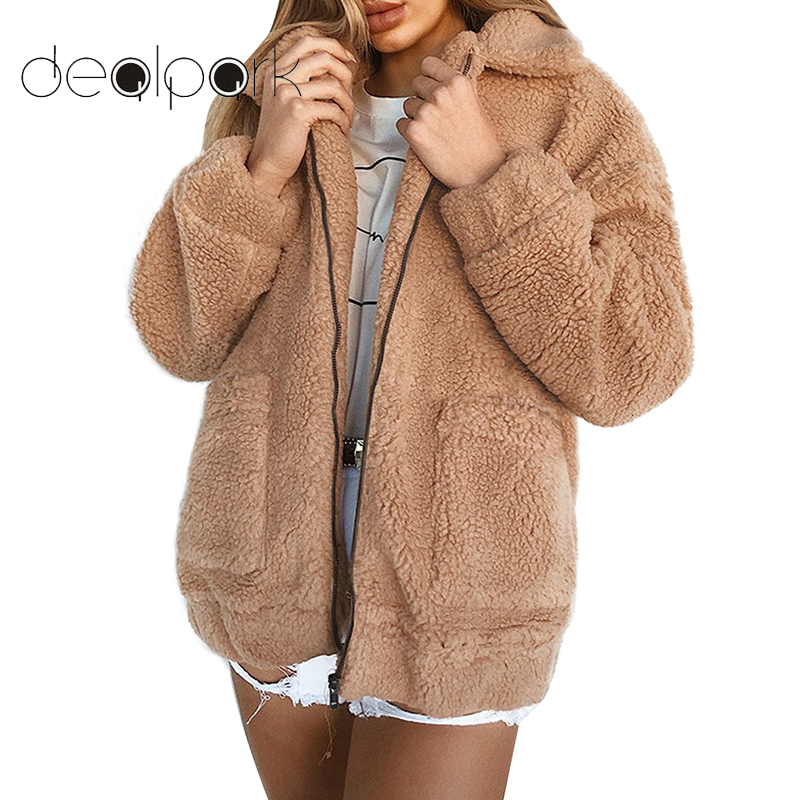 2019 Winter Teddy Coat Women Faux Fur Coat Teddy Bear Jacket Thick Warm Fake Fleece Jacket Fluffy Jackets Plus Size 3XL Overcoat