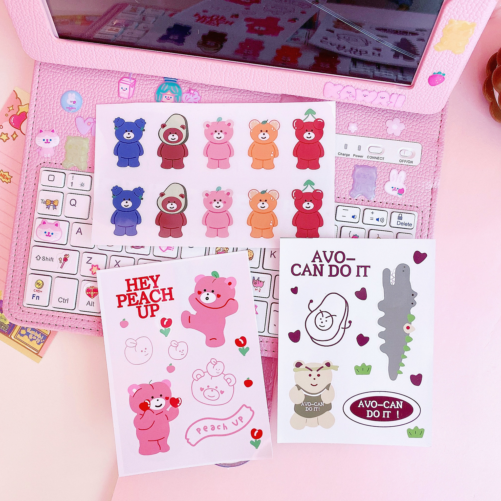 3pcs/lot Cute Cartoon Rainbow Bears Stickers For Children Kids Letter Diary Scrapbooking Stationery Pegatinas Stickers