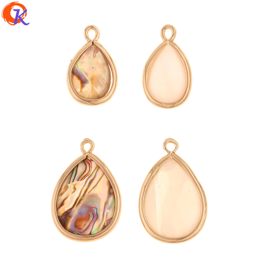 Cordial Design 50Pcs 9MM 14MM Jewelry Accessories/Natural Shell Pendant/Drop Shape/DIY Charms Jewelry/Hand Made/Earring Findings