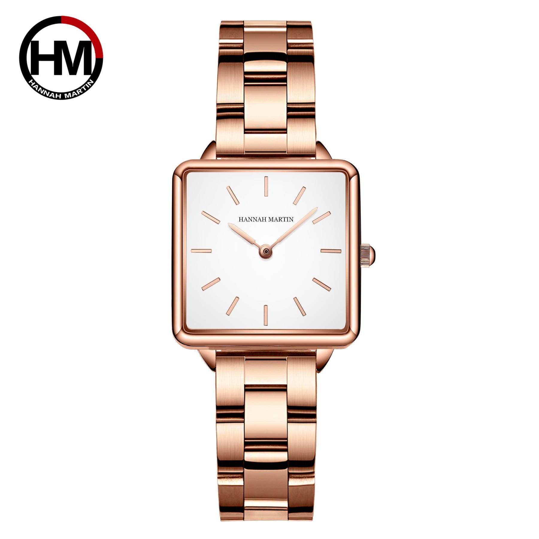 Japan Movement Drop Shipping Women Rose Gold Simple Fashion Casual Brand Wristwatch Luxury Lady Square Watches Relogio Feminino|Women's Watches| - AliExpress