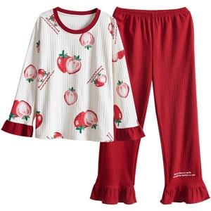 Image 2 - Vrouwen Kleding Herfst Winter Pyjama Sets Nachtkleding Mooie Pijamas Mujer Lange Mouwen Katoen Sexy Pyjama Vrouwelijke Leuke Homewear
