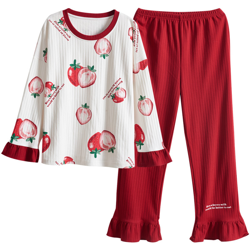 Image 2 - Women Clothes Autumn Winter Pajamas Sets Sleepwear Lovely Pijamas Mujer Long Sleeve Cotton Sexy Pyjamas Female Cute HomewearPajama Sets   -