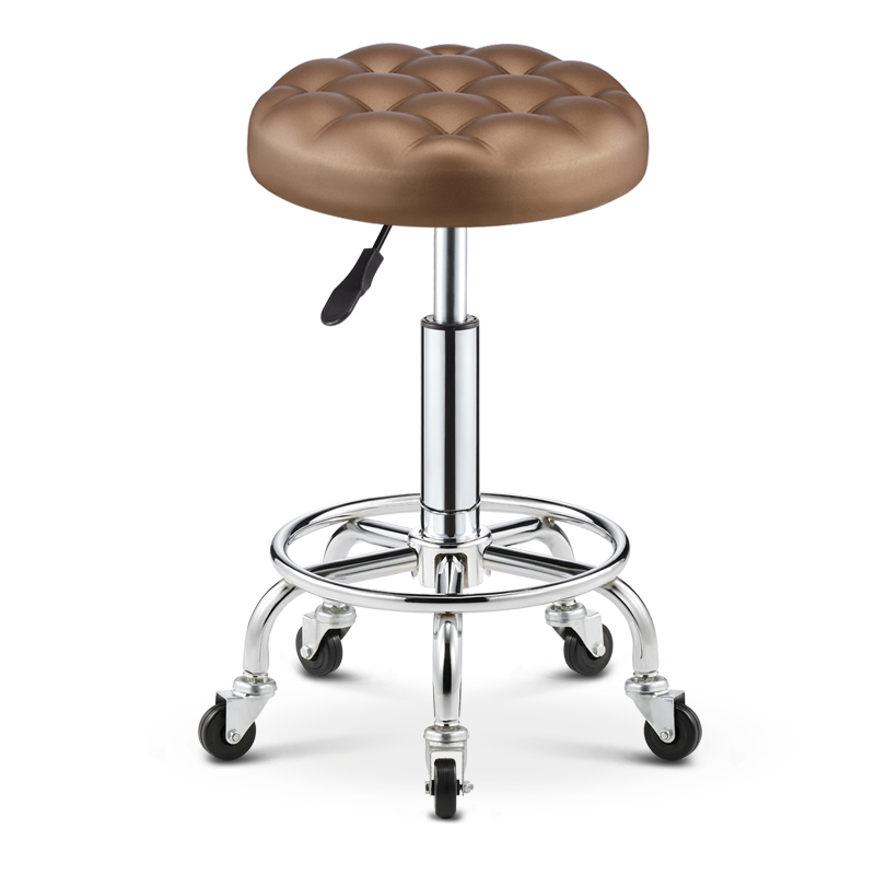Lifting And Rotating Backrest Chair Manicure Bench Barber Bench Bench Bench Bench Bar Chair Hair Salon Round Stool