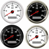 8000 rpm Tachometer Boat Car Marine Tacho meter with LCD Hourmeter Car Tachometer with red backlight 12V boat accessories marine