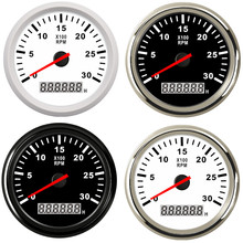 8000 rpm Tachometer Boat Car Marine Tacho meter with LCD Hourmeter Car Tachometer with red backlight 12V boat accessories marine цена в Москве и Питере