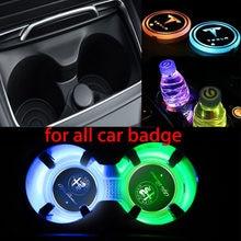 Автомобильный светодиодный светильник подстаканник световая противоскользкая коврик для Mazda 3, 5, 6, CX-3 CX-4 CX-5 CX5 CX-7 CX8 CX9 Atenza Axela аксессуары
