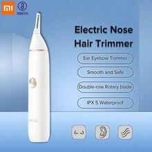 Xiaomi SOOCAS, электрический триммер для волос в носу, ушей, бровей, бритья, Мини Портативная машинка для удаления волос, водостойкий очиститель, триммер для носа