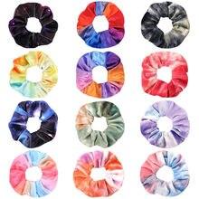 Эластичные резинки для волос 60 шт/лот бархатные/шифоновые женщин