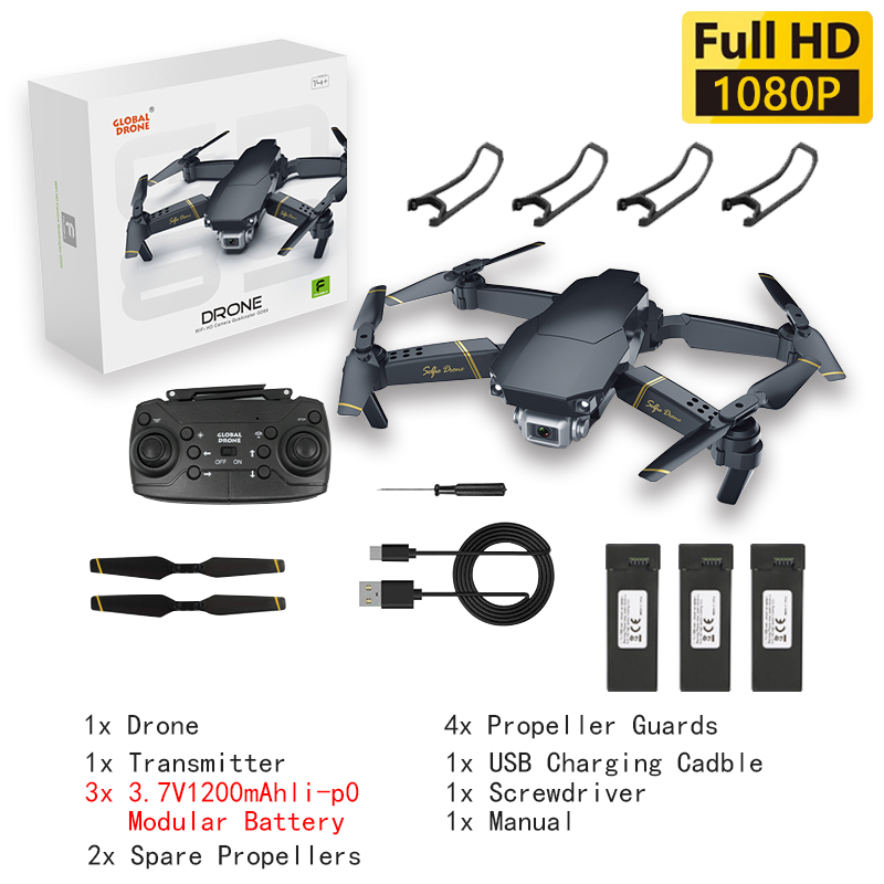 Drone 4k HD Wide Angle Camera WiFi Transmission FPV Dron Height Keep One Click Back Quadcopter Drones with Camera RC  Helicopter