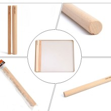 1 PC Beech Wood Rolling Pin Non-stick Solid Flour Stick and Dough Wrappers Kitchen supplies For Handmade food