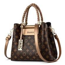 Vintage Women Luxury Big Capacity Totes Handbags PU Leather  Top-handle Crossbody Bag Retro Messenger Shoulder Bags Women Handba