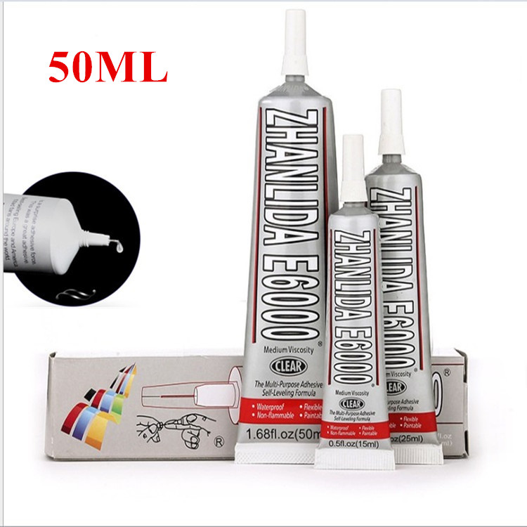 50ml Industrial Liquid E6000 Super Glue Strong Adhesive For Diy Diamond Painting Cloth Metal Fabric Rhinestones Crystal Glass