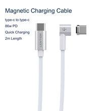 86W USB C כבל סוג C מגנטי 2M כבל עבור Macbook Huawei Mate 20 פרו OnePlus 6 מהיר טעינה מגנט סוג C מחבר