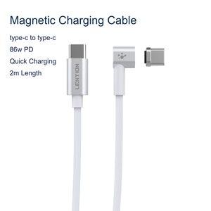 Image 1 - 86W USB C Kabel Zu Typ C Magnetische 2M Kabel Für Macbook Huawei Mate 20 Pro OnePlus 6 schnelle Lade Magnet Typ C Stecker