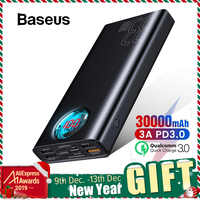 Baseus 30000mAh Accumulatori e caricabatterie di riserva USB C PD 3.0 Veloce di Ricarica + Carica Rapida 3.0 Batteria Esterna Portatile per Samsung Computer Portatile powerbank