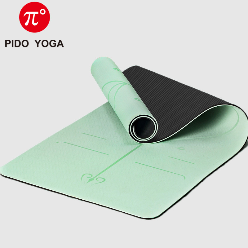 Buy Pido Yoga Double Color Yoga Mat With Position Line Thick Yoga Pilates Mats Gymnastics Fitness Mat Geekyviews