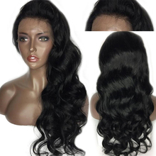 цена на Eseewigs Lace Front Human Hair Wigs 150 Density For Black Women Brazilian Body Wave Wigs Remy Hair Bleached Knots With Baby Hair
