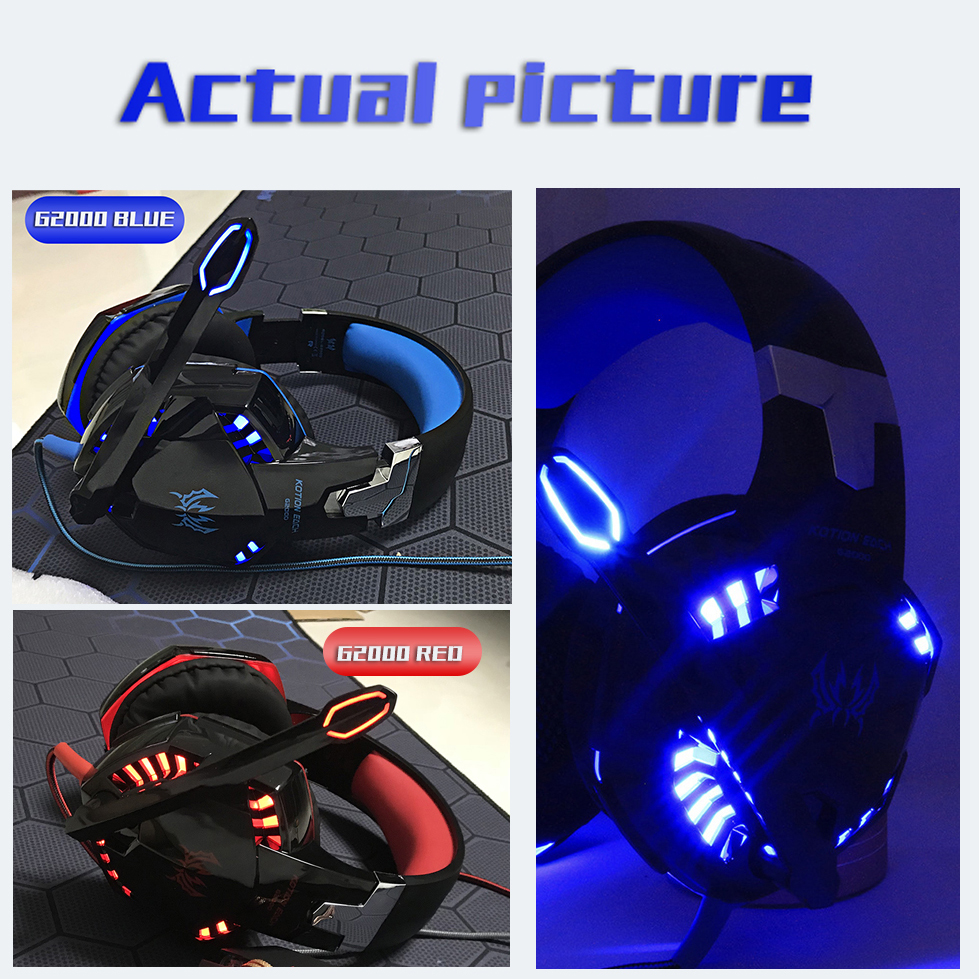 Headset over-ear Wired Game Earphones Gaming Headphones Deep bass Stereo Casque with Microphone for PS4 new xbox PC Laptop gamer 2
