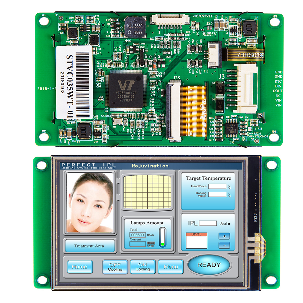 3.5 Inch UART  HMI Smart LCD Embedded Touch Display Module Support Interface RS232/RS485/TTL For Equipment Use