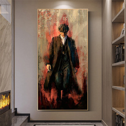 Peaky blinders Graffiti Art Paintings Print on Canvas Art Posters And Prints Portrait of Tommy Shelby Art Pictures Home Decor