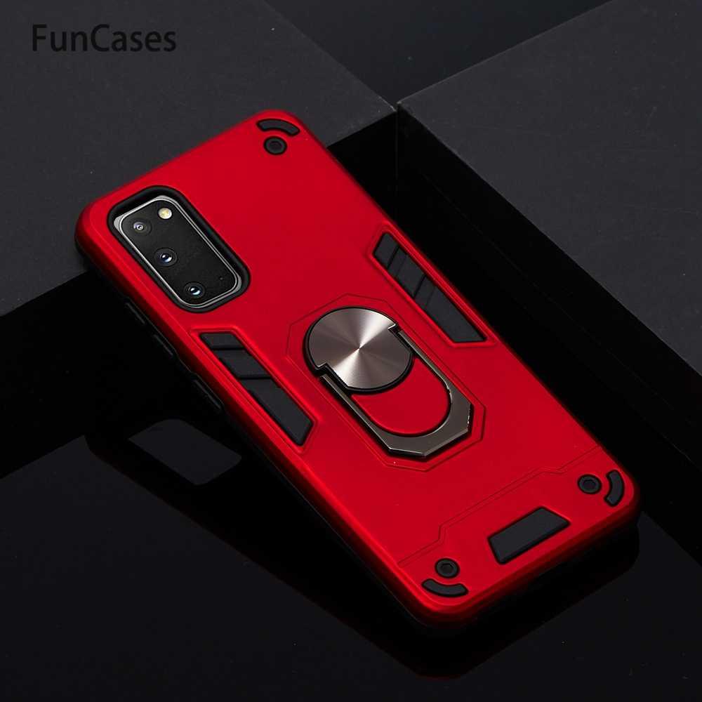 Funda blanda de TPU con soporte de anillo para Samsung S20, Fundas protectoras para teléfono, funda protectora para Samsung Galaxy carcaso S20
