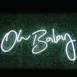 Oh  Neon BABY LED Neon Sign Custom Made Wall Lights Party Wedding Shop Window Restaurant Birthday Decoration
