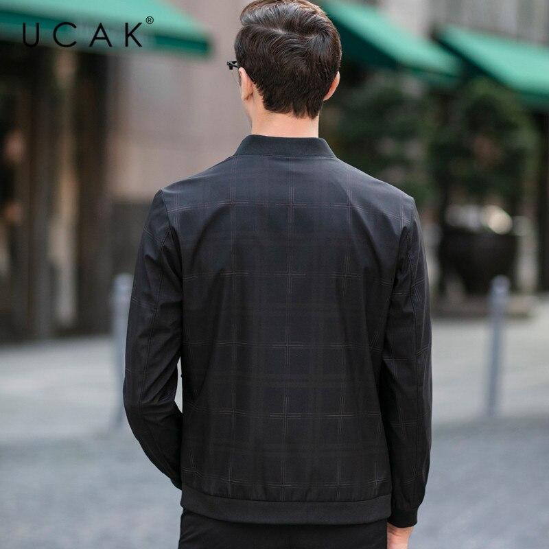 UCAK Brand Plaid Jackets Mens Clothing Spring Autumn New Arrival Veste Homme Streetwear Mens Clothes Coats Zipper jacket U8060