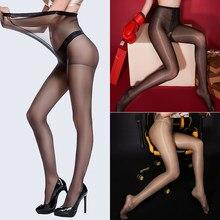 Women Tights Stocking Pantyhose Transparent Nylon Stockings Elastic Thin Pantyhose Sexy High Waist Seamless Pantyhose Female