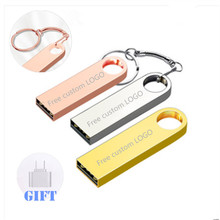 цена на Mini key USB Flash Drive 32GB metal pen drive 64GB 8GB flash memory stick 128GB cle usb 2.0 pendrive 16GB 4GB u disk waterproof