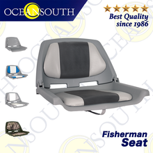 Oceansouth Fisherman Boat Seat Marine Grade Polymer Low Back Moulded Folding Seat Fishing Boat Accessories
