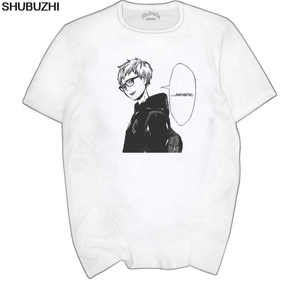 Casual T-shirt Man cotton Short Sleeve Tsukishima Kei Haikyuu Teenage Clothing Men Tshirt euro size