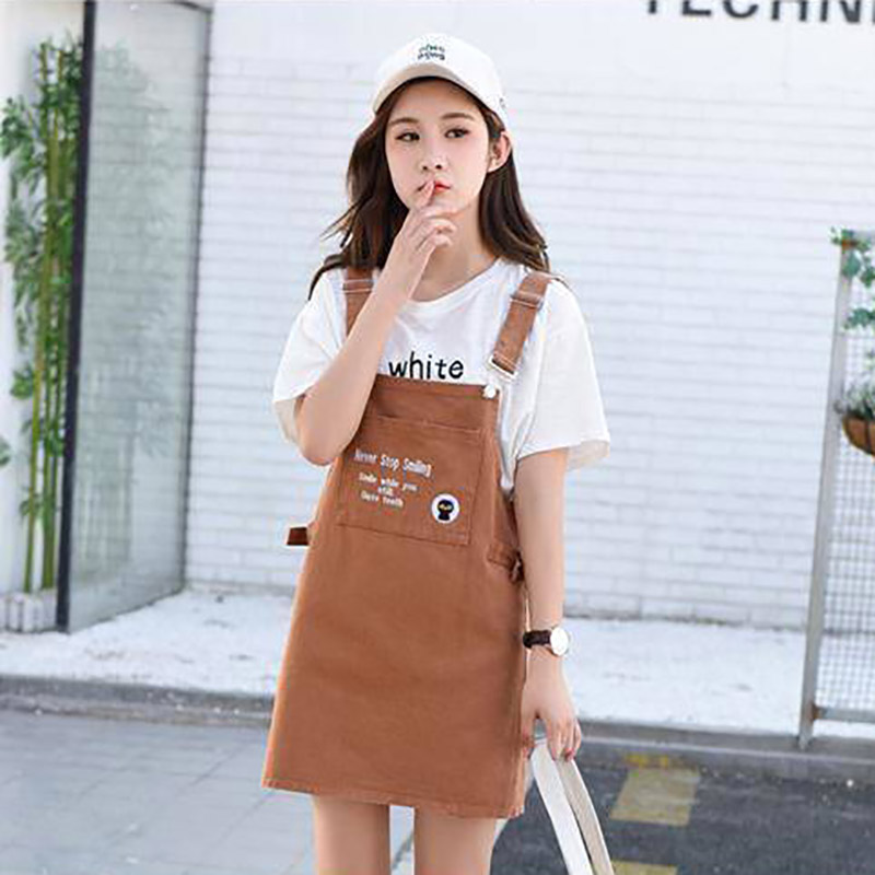 Wholesale Women Cute Kawai College Style Candy Color Short Skirt Letter Print Big Pocket Mini Skirt For Girl Clothing