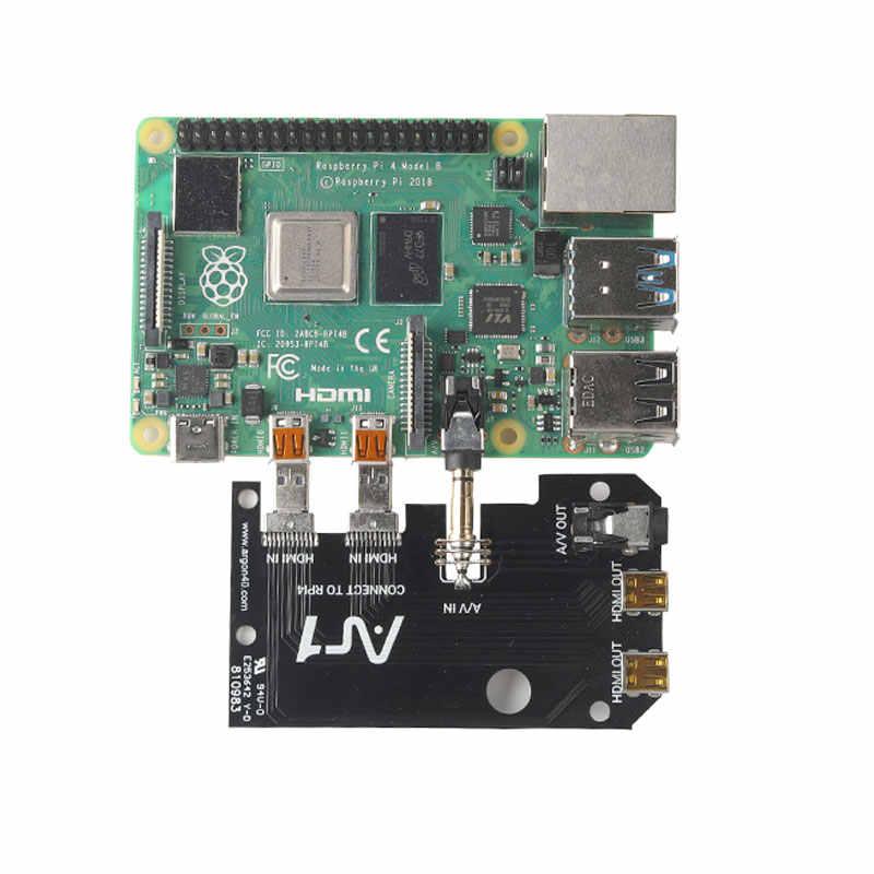 Raspberry Pi 4 Modell B Fall Aluminium Metall ABS Box Shell mit Power Schalter + Lüfter + Kühlkörper für Raspberry Pi 4