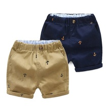 Kids Short Pant Clothing Capris Toddler Baby Boys 2-9-Years Cotton Summer KF553 Anchor
