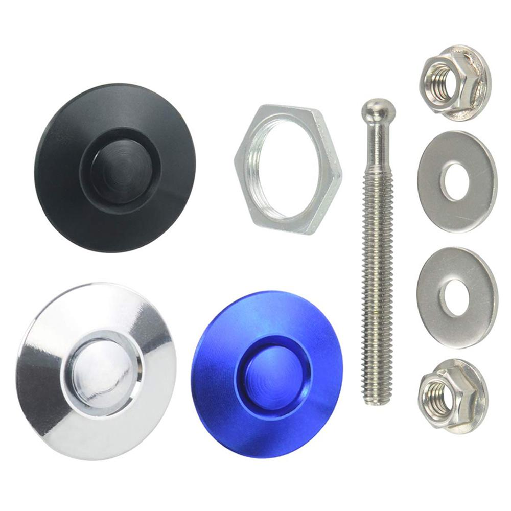 Universal Round Quick Latch Hood Pins Release Bumpers Fasteners Bonnet Push Button Lock Clip Kit Car DIY