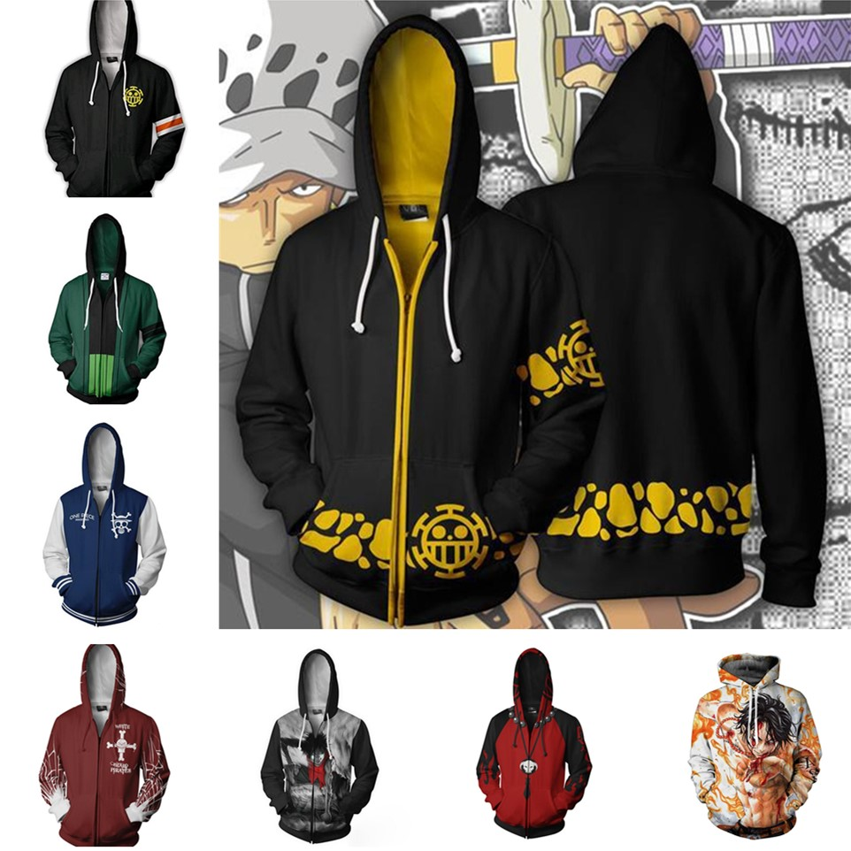 3d Digital Printing ONE PIECE Trafalgar Law Costume Hoodie Cosplay Sweatshirts Clothing Costumes