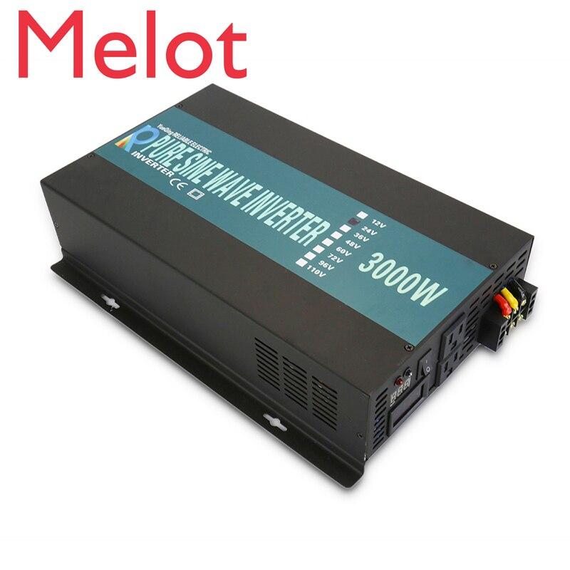 3000W Pure Sine Wave Solar  Inverter 24V 220V Portable Car Power Inverter Generator DC to AC Converter 12V/48V to 120V/230V/240V