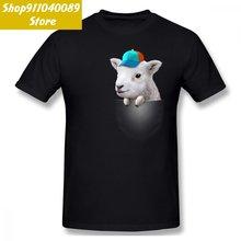 Карманный овец со шляпой для мужчин футболка Прямая доставка