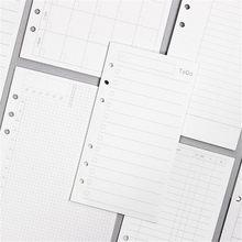 45 folhas de negócios a5 a6 folha solta notebook recarga espiral binder índice dentro da página mensal semanal para fazer lista papelaria de papel