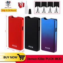 Ban đầu Demon Killer PUCK MOD Kit 0.7ml gốm sứ/PCTG Core Pod Thuốc Lá Điện Tử Vape Box Mod Vape Pen VS JC01 Pro W01 Bộ