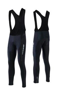 FASTCUTE-Pantalones largos acolchados para Ciclismo, mallas de Gel 3D para bicicleta de...